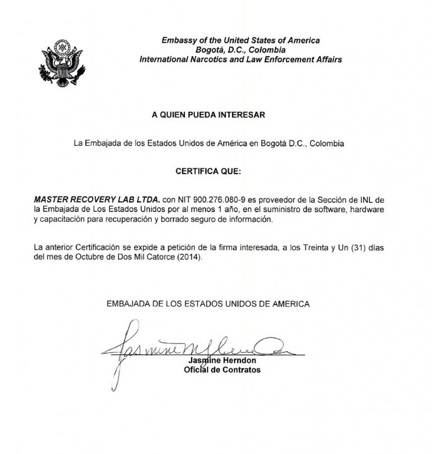 Embajada Americana en Colombia